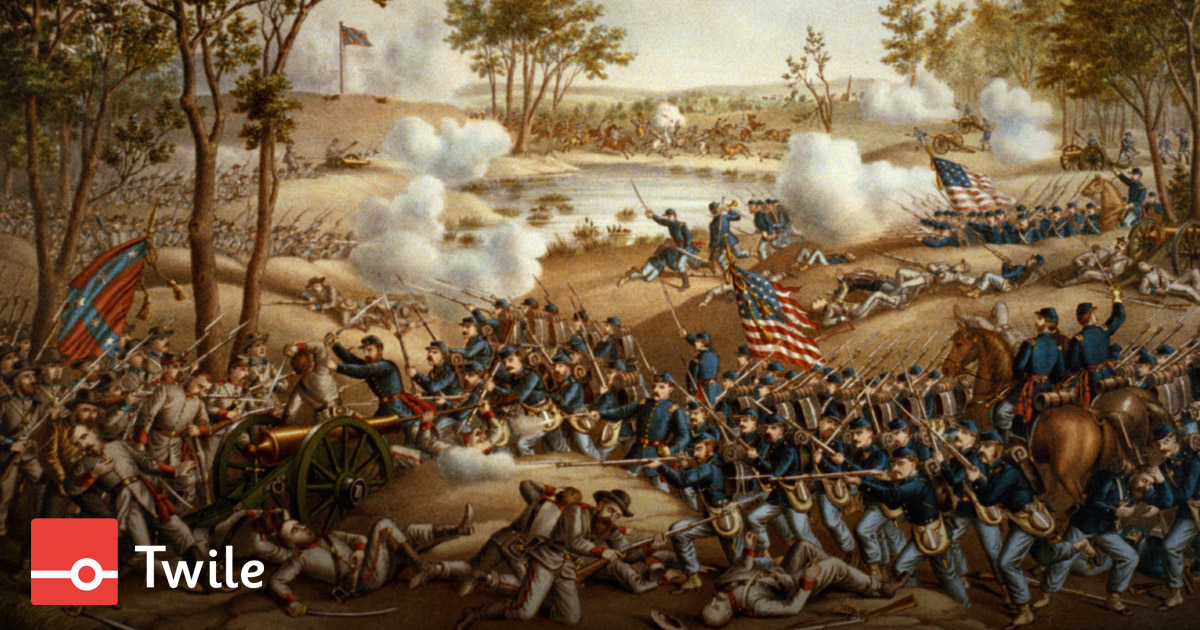 Twile timeline of The American Civil War