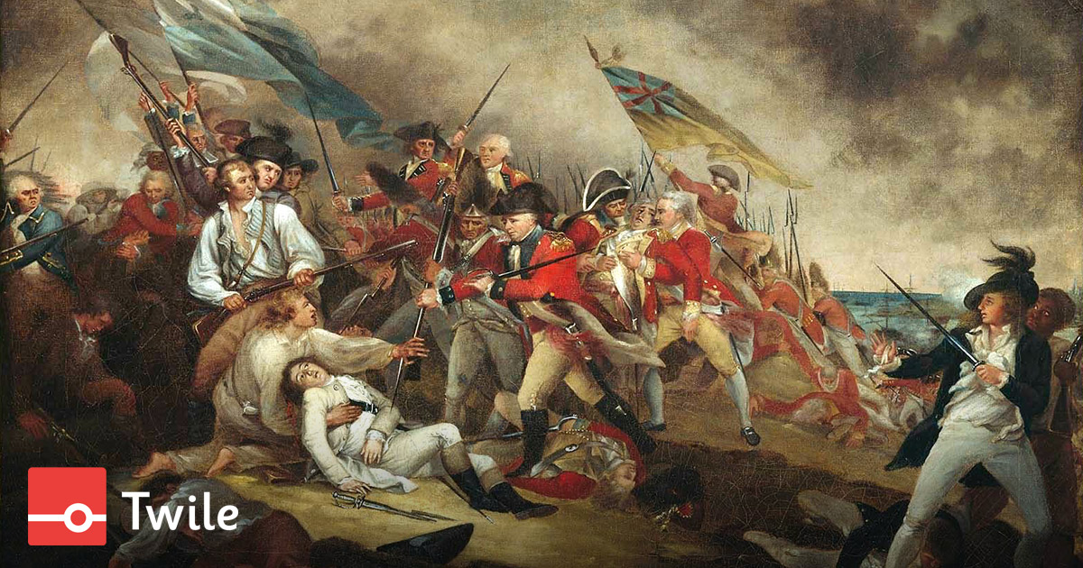 Twile timeline of The American Revolutionary War
